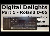 Roland Boutique D-05 unbox, 1st look & sound demo