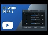 Remove Wind Noise from Audio with De-wind in RX 7