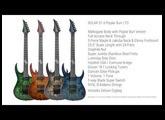 SOLAR Guitars S1.6 Poplar Burl x4 - STAINLESS STEEL FRETS / NECK THROUGH