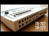 Roland TR-707 and Roland TR-727 demo
