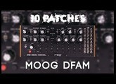 10 Patches on the MOOG DFAM (no talking)
