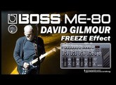 BOSS ME-80 DAVID GILMOUR sound on sound Freeze Effect [Free Patch].