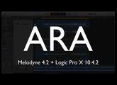 Melodyne 4.2 ARA + Logic Pro X 10.4.2