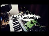 Patch from Scratch - Moog Grandmother & Make Noise 0-Coast multi synced arpeggio (no talking)