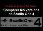 Formation Studio One 4 - A03: Comparer les versions