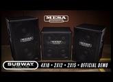 MESA Subway® Ultra-Lite Cab Comparison – 4x10 - 2x12 - 2x15 – Blues