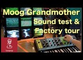 Moog Grandmother sound test and popup factory tour