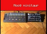 Siel MDP-40 drum machine with Moog Minitaur and DS TETRA