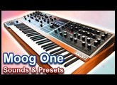 MOOG ONE SYNTHESIZER | Sounds, presets & ambient soundscapes 【SYNTH DEMO】