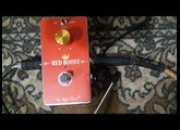 Red Boost / Treble Booster/ Rangemaster by Mojo Gear Fx