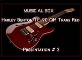 Harley Benton  TE-90 QM Trans Red  Nouvelle Présentation  (la suite dans la semaine)