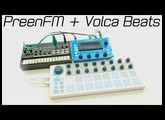 PreenFM + Korg Volca Beats: Sound and Functions [direct high quality sound] [Full HD]