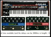 Roland Juno 60 and Eventide TimeFactor and Pitchfactor Pedals
