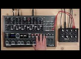 Audiothingies Doctor A with... Arturia Minibrute 2S, sequencing Doctor A's CV inputs