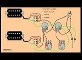 Micro double bobinage, Série, split, parallèle + schémas