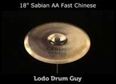 "SOLD OUT 18"" Sabian AA Fast Chinese FX Cymbal"