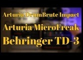 DrumBrute Impact TD 3 MicroFreak and some pedals - 4 tracks direct to SD