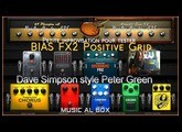 Bias FX2 Test sur le Backing Track de Dave Simpson (Peter Green)