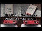 ESI UGM192 Portable USB Audio Interface - NAMM 2020