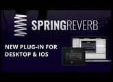Spring Reverb Plug-in Demo and Sound examples for AAX, VST, AU and AUv3 (iPhone & iPad)