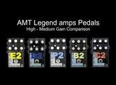 AMT Legend amps E2, D2, P2, B2 & C2 Comparison (High-Medium Gain)