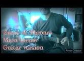 Game of Thrones main theme Guitar version