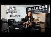 Invaders Amplification - Serie 5 - 550 BlueGrass - 50W Full tube - Bass Demo with Loic Videtta