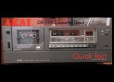 Akai GX-F95 3 Head Cassette Deck - Unboxing and quick test