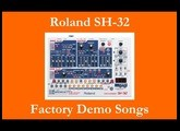 Roland SH-32 - Démos internes - Factory Demo Songs
