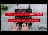 Getting started with MPC One - Lesson 11 - Exporting & Sharing Beats
