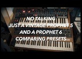 Vintage Prophet 5 Rev3 Presets Vs. Prophet 6 (NO TALKING/DIRECT FEED FROM SYNTHS)