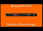 Roland M-OC1 - Démos internes - Factory Demo Songs
