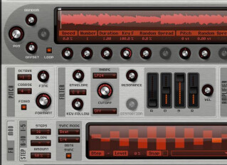 Virtual granular synths
