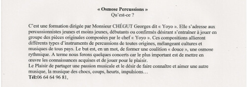 """association""""osmose percussions"""""""