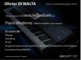 Cours de piano moderne et synthétiseurs