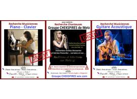 recherche 1 chanteuse et 1 musicienne