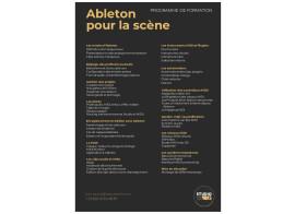 Formation ABLETON pour La Scène