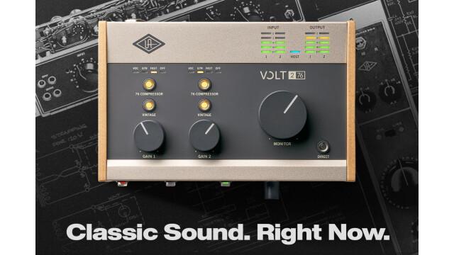 Universal Audio frappe fort avec la série Volt