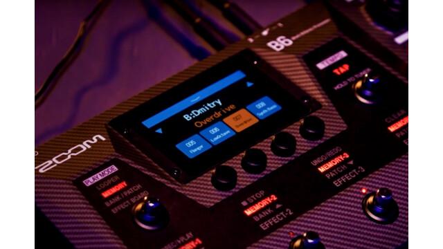 Un multi-effet dédié aux bassistes chez Zoom : le B6