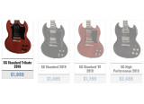 Les nouvelles Gibson SG pour l'année 2019