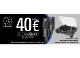 Opération Cashback chez Audio-Technica
