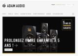 Le site d'ADAM Audio est disponible en français