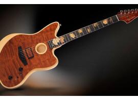 Le luthier Ron Thorn a construit une Acoustasonic Jazzmaster unique