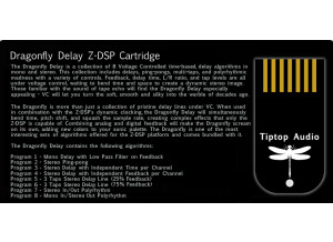 Tiptop Audio Dragonfly Delay Z-DSP Cartrige