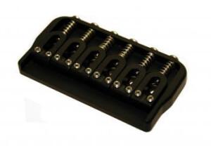 Hipshot 6 String Fixed .125 Guitar Bridge Black