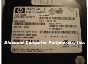 Hewlett-Packard d2077a  2,1 Gb SCSI drive