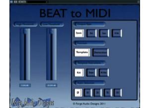Forge Audio Designs BEAT to MIDI