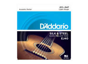 D'Addario Silk & Steel Acoustic Guitar