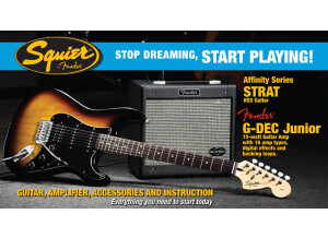 Squier Stop Dreaming, Start Playing Set: Affinity Series Strat HSS with G-DEC Junior