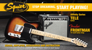 Squier Stop Dreaming, Start Playing Set: Affinity Series Tele with Fender Frontman 15G